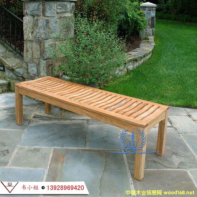 户外公园椅 庭院花园休闲椅子 实木椅园林长条凳阳台椅防腐木椅