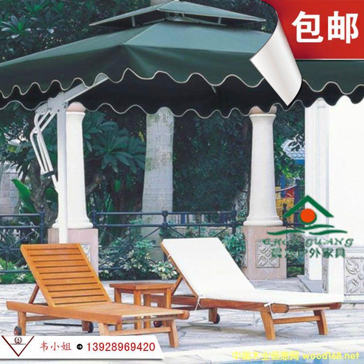 户外躺椅 大躺椅 木制躺椅 户外木躺椅 沙滩椅躺椅躺床 实木