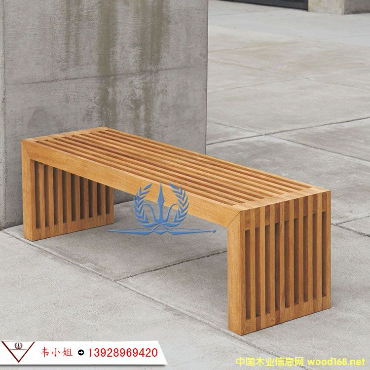 实木长椅 户外休闲椅 花园长凳子长条椅双人椅 防腐木公园椅