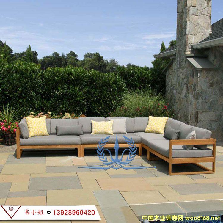 工厂直销户外家具实木组合 沙发套装花园庭院客厅休闲沙发