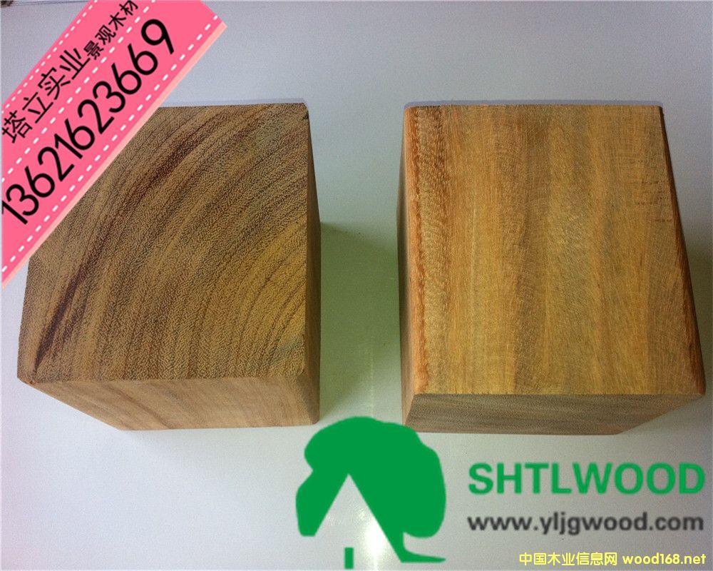 非洲菠萝格园林景观防腐木户外地板进口硬杂木古建装潢木材批发