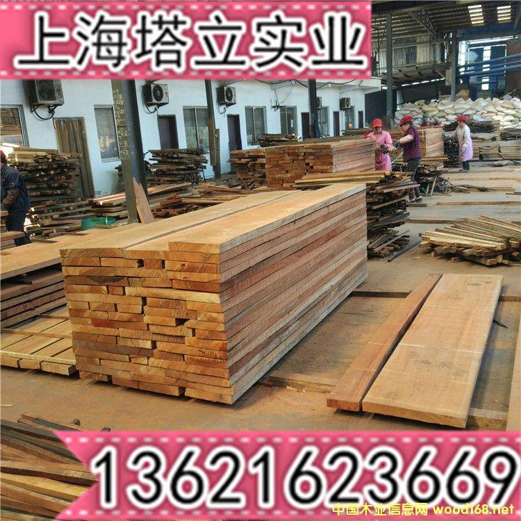 沙比利家具板实木门楼梯扶手烘干进口木板材