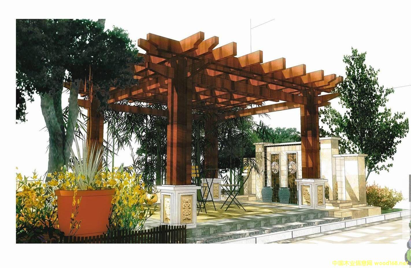 全国承接定制各种景观花架
