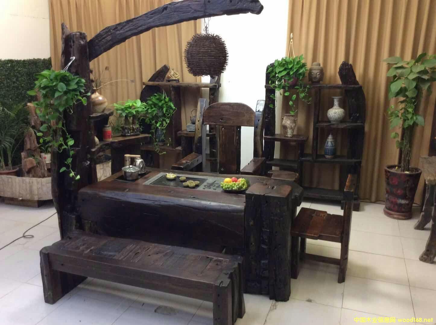 宁波船木家具 船木茶台