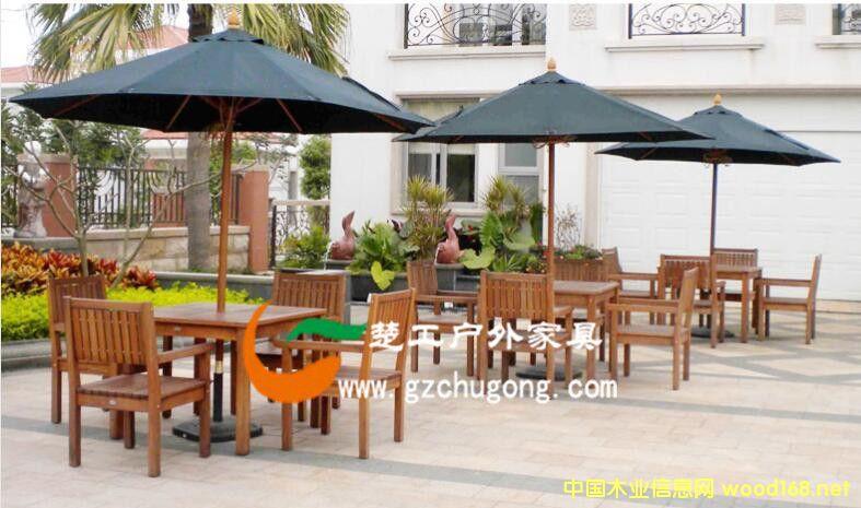 庭院休闲木制桌椅