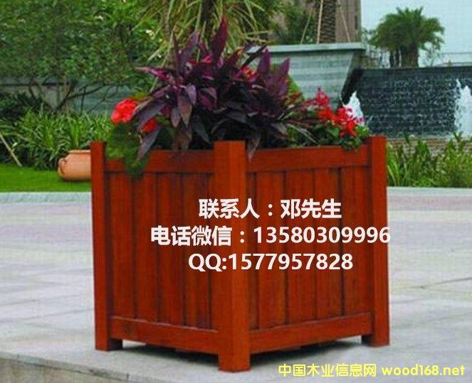 防腐木制花箱