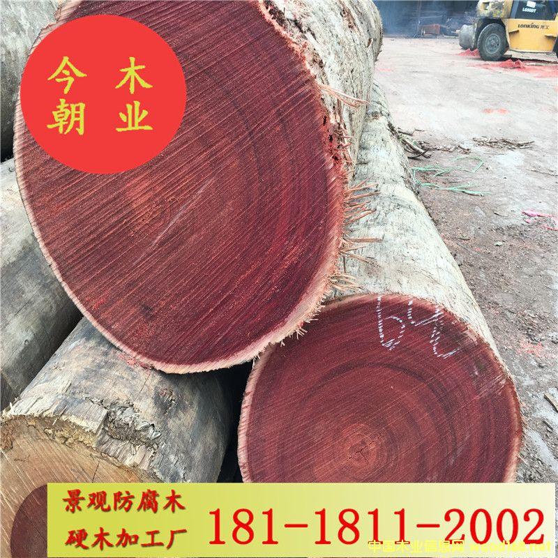 红梢木园林景观防腐木工程加工材户外地板木栈道花架凉亭用料