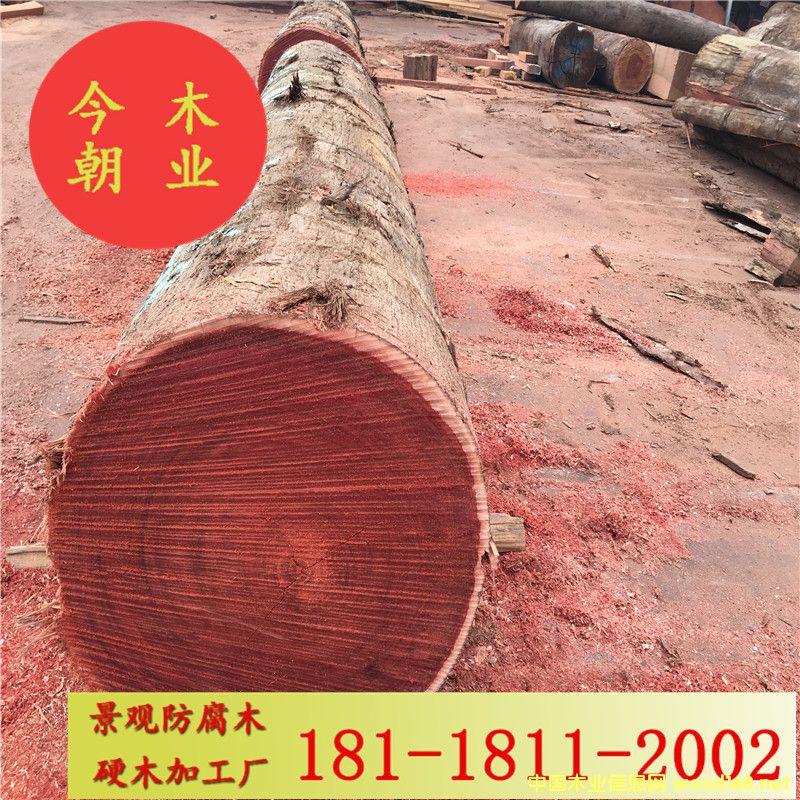 马来菠萝格园林景观防腐木工程加工材户外地板木栈道花架凉亭用料