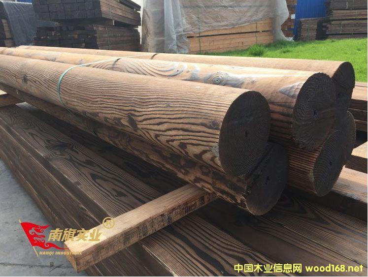 碳化木凉亭批发价格 南方松深度碳化木厂家