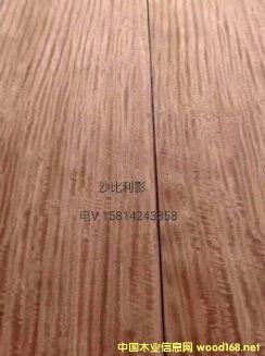 优质天然沙比利影木皮