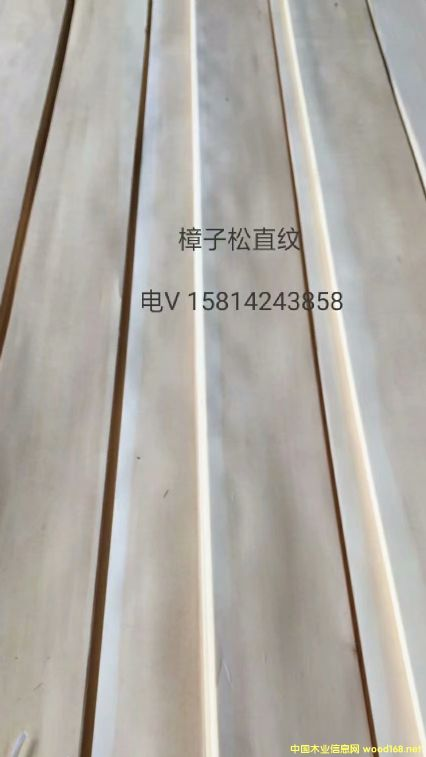 优质天然樟子松直纹木皮