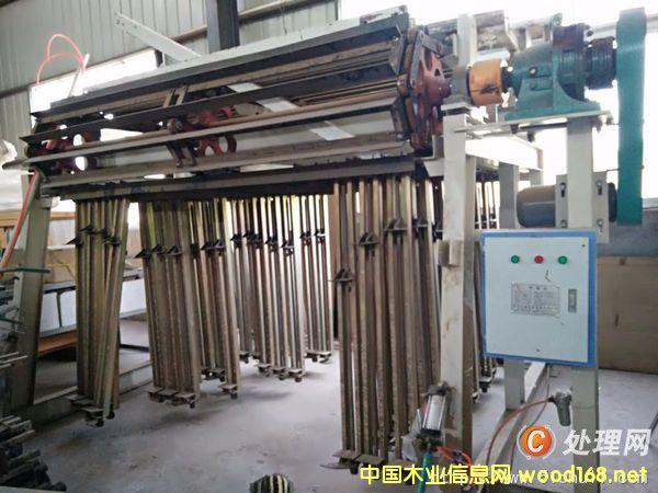 二手台湾30排油压拼板机