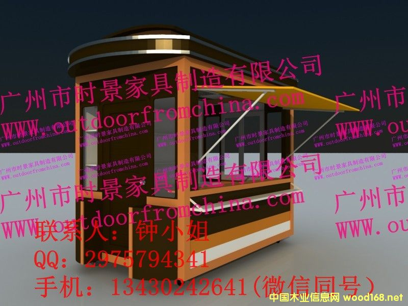 公园实用定制防腐便民会展摊位车 庆元售货亭