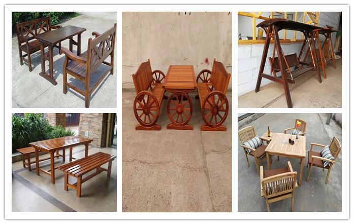防腐木桌椅 公园椅