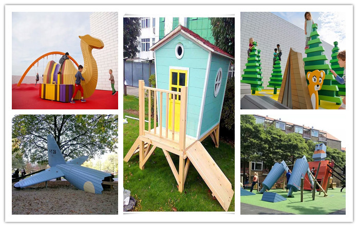 防腐木滑梯 幼儿园玩具