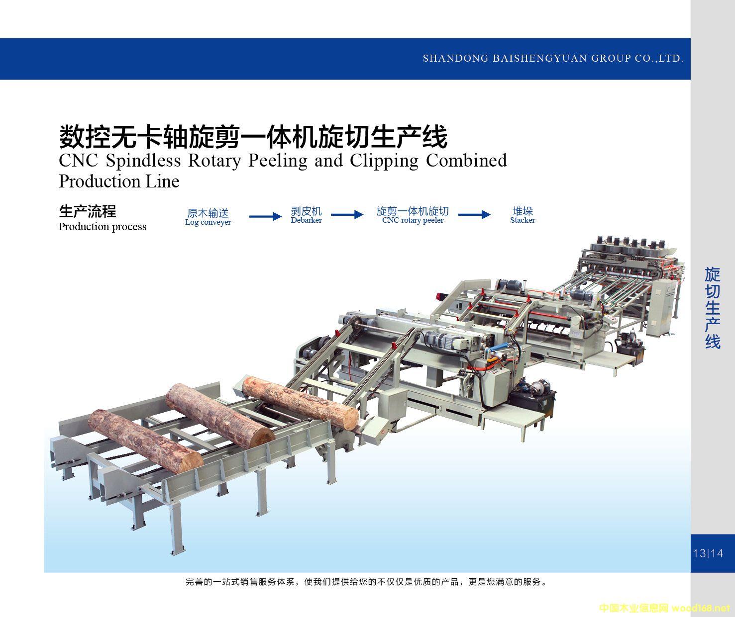 数控无卡轴旋剪一体机旋切生产线的详细介绍