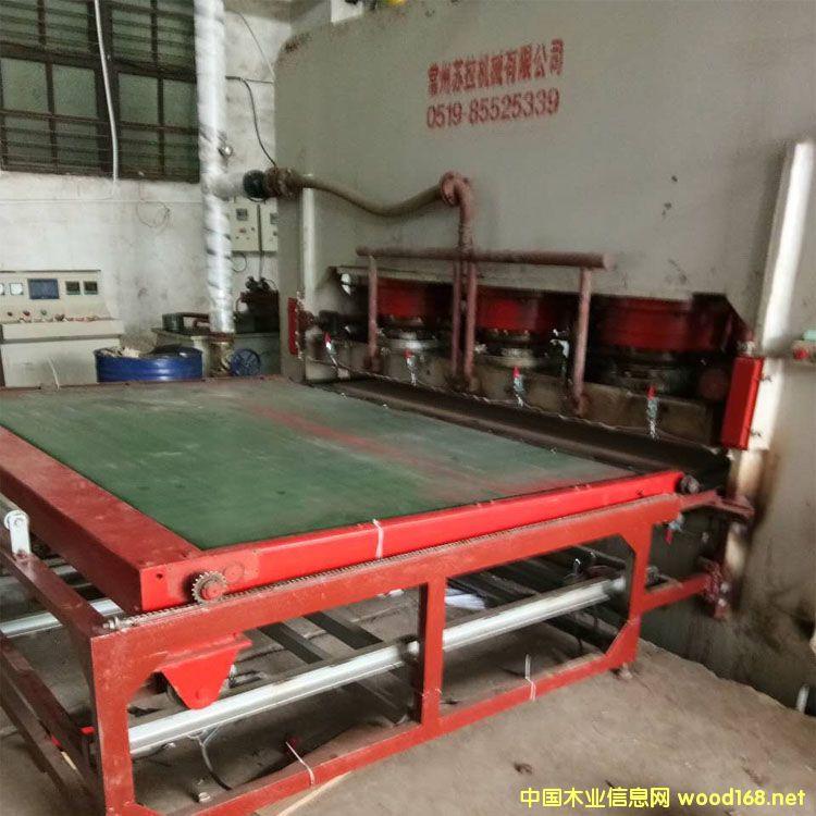常州苏拉4*8尺1600吨双贴面二手热压机