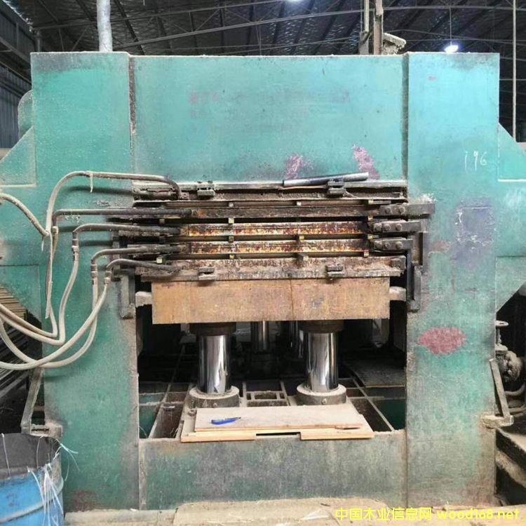 浙江产4*8尺700吨四层二手竹地板热压机