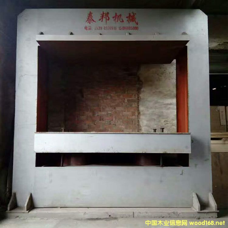 山东临沂4*8尺400吨二手木工冷压机