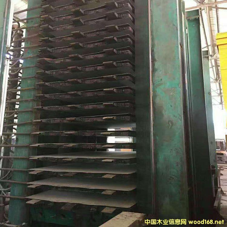 重庆江东18层1200吨二手木工热压机