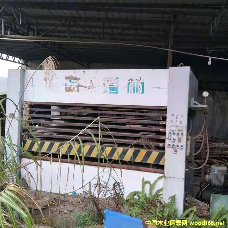 青岛8压7层二手木工贴皮压机
