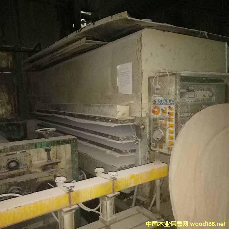 秋林产4x8尺3层200吨二手贴面热压机