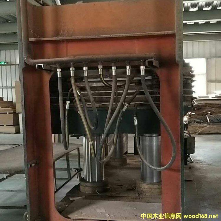 常山产四八尺6层400吨二手贴纸热压机