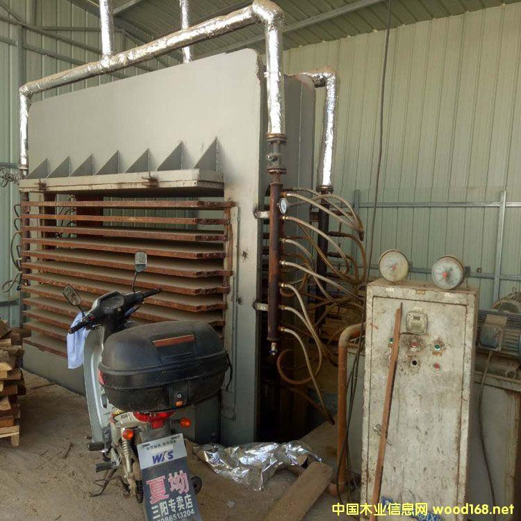 山东荷泽产4x8尺12层二手热压机