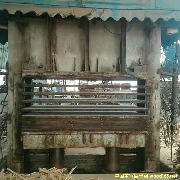 江苏徐州产4*8尺11压10层二手木工热压机
