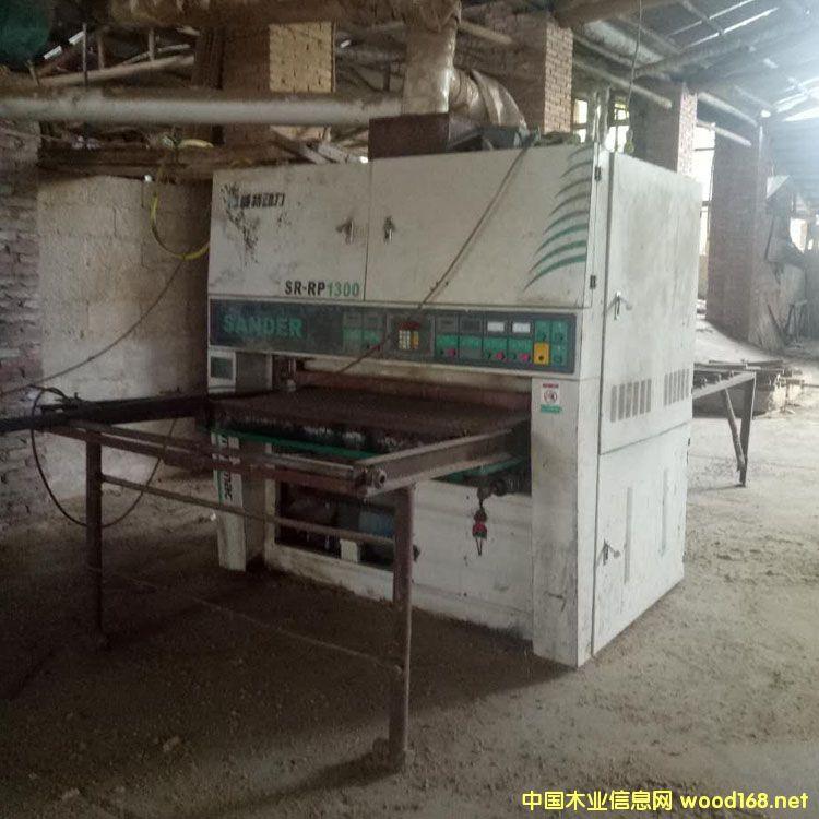 7成新青岛威特动力1300mm二手双砂架砂光机