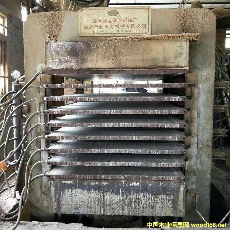 临沂产4*8尺10层二手纵向热压机