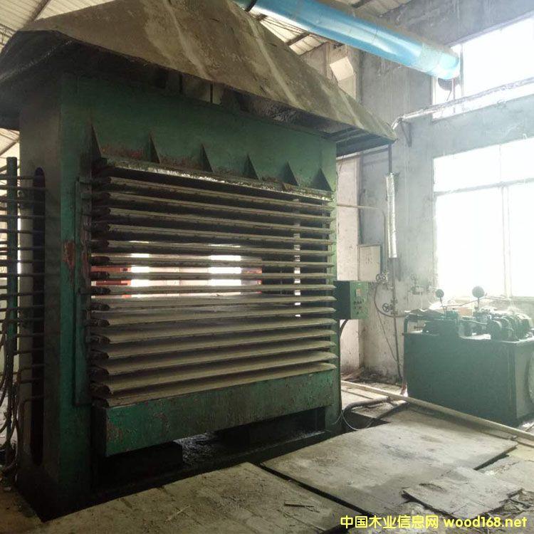 福建福州产4x8尺16压15层二手木工热压机