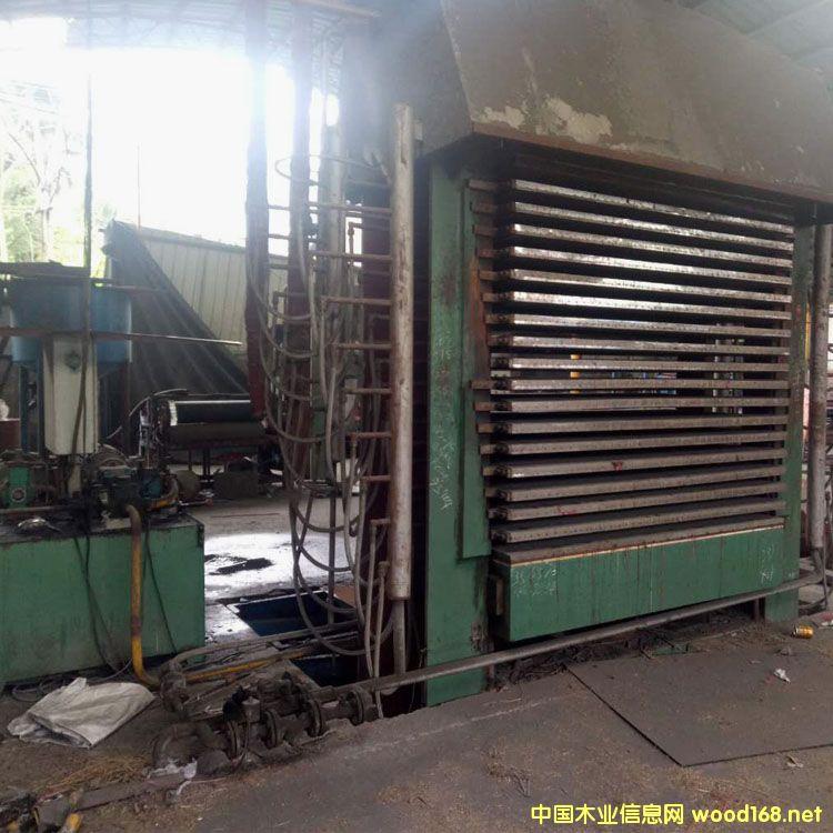 福建漳州华成3*6尺18层450t横向二手木工热压机