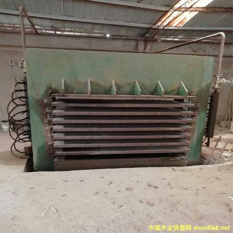 供应9层4*8尺400T二手横向热压机