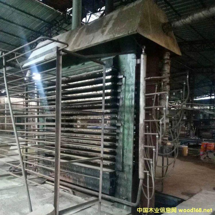 漳州华成3x6尺15层二手液压热压机