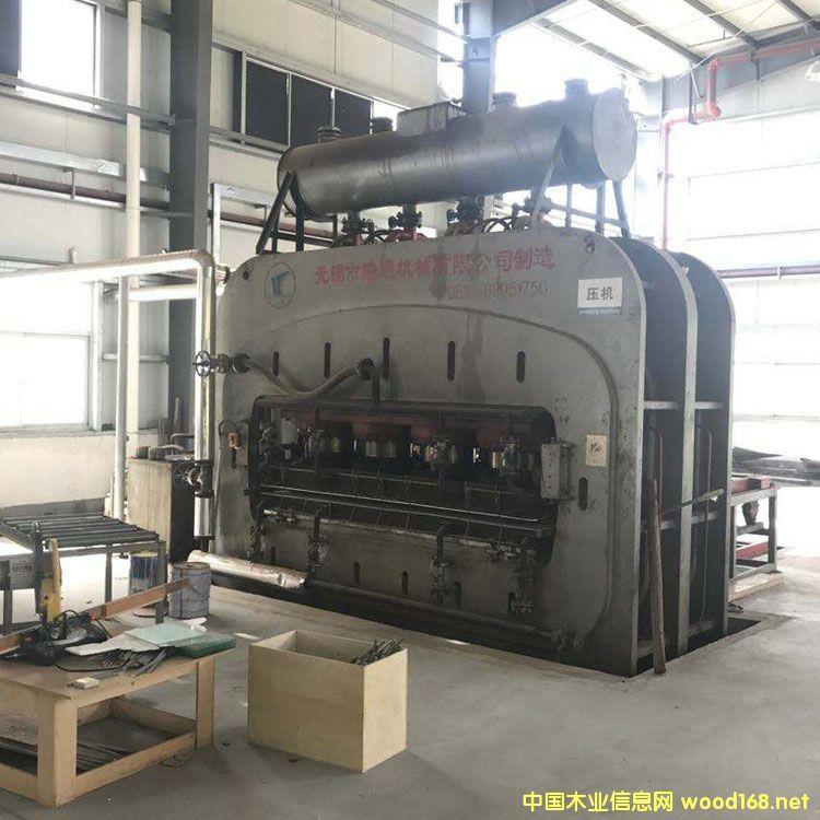 8成新陆通2400吨二手贴面热压机转让出售