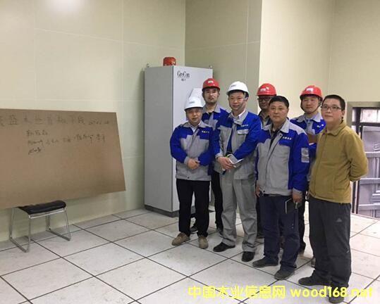 山东菏泽茂盛木业年产30万立方米刨花板项目首板顺利下线