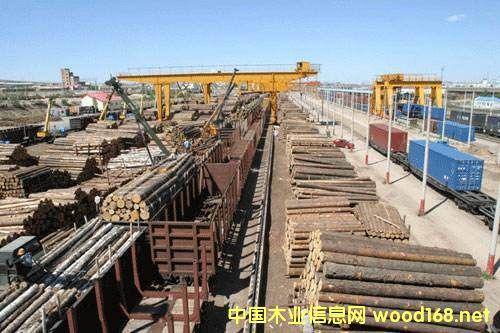 """单日进口木材686车 满洲里口岸木材进口创""""历史之最"""""""