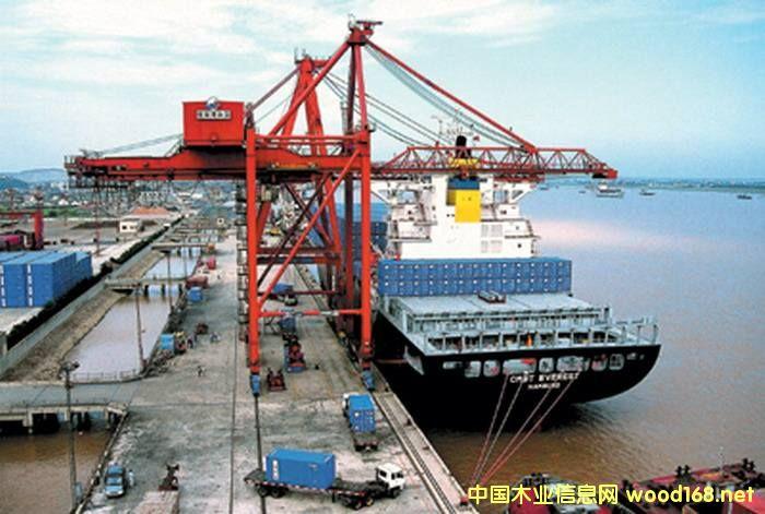 张家港口岸第一季度集装箱木材进口量大涨63.%