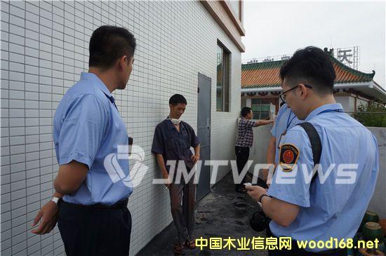 """广东江门一红木厂逃避安全检查 与执法人员""""躲猫猫""""2"""