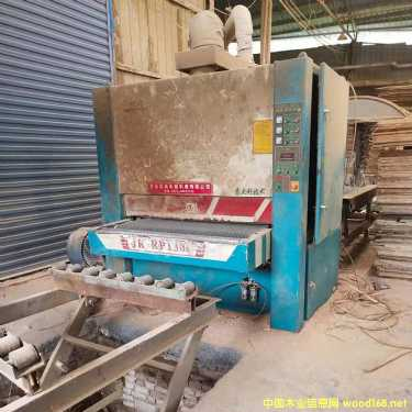 山东青岛嘉诚1米3宽二手砂光木机生产线