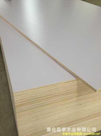 青岛龙宇杨桉多层免漆生态板浮雕暖白18mm橱柜板衣柜板
