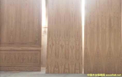榆木实木拼木皮免漆板