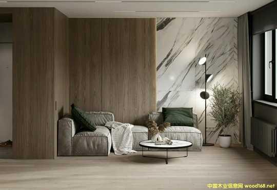 白杨直纹简约木饰面板